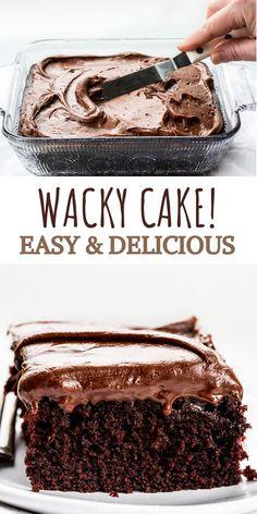 Depression cake no eggs, butter or milk Easy Desserts, Delicious Desserts, Dessert Recipes, Food Cakes, Cupcake Cakes, Cupcakes, Chocolate Recipes, Cake Chocolate, Recipes
