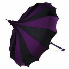 Purple & black Steampunk umbrella.