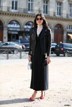 Leandra getting back to black. Paris. #LeandraMedine #ManRepeller #ATPB