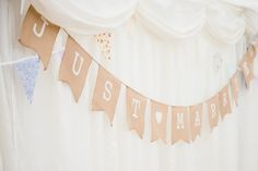 Just married sign - Wedding reception ideas