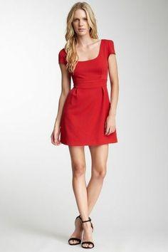 Bardot Stella Cap Sleeve Dress