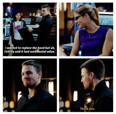 I love this little olicity moments. #Flarrow #Olicity ❤