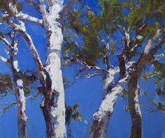 Ken Knight, Summer Skies - Scribbly Gums, oil on board, 85x101cm, $11,800 (136)