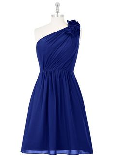 AZAZIE SABRINA. The graceful knee-length bridesmaid dress by Azazie has an A-line/princess cut in an exquisite chiffon. #Bridesmaid #Wedding #CustomDresses #AZAZIE