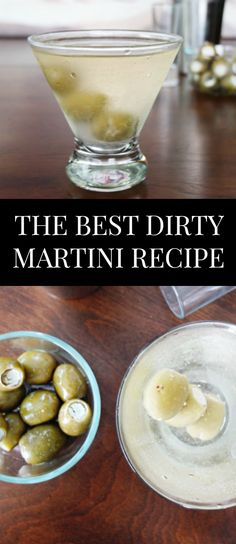 The best martini recipe for #NationalMartiniDay of if you're just looking for a Mad Men cocktail. This recipe includes blue cheese stuffed olives and garlic olive brine. Vodka Martini or Gin Martini recipe options. // www.ElleTalk.com