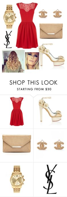 Never let me go by mar-01 on Polyvore featuring moda, Oasis, Charlotte Olympia, Style & Co., Michael Kors and Yves Saint Laurent