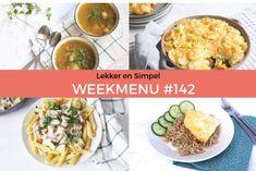 Lekker en Simpel Weekmenu #142 Shawarma, Salsa Bechamel, Arroz Frito, Enchiladas, Mozzarella, Deserts, Mexican, Breakfast, Ethnic Recipes