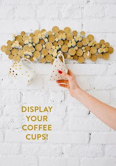 Diy display for coffee cups.#Home #Decor #Design#Decorating | VisitWISHCLOUDS.COM for more...