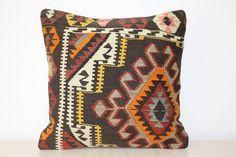 Kilim Pillow Vintage  20x20  Vintage Kilim Pillow  by KilimBazaar