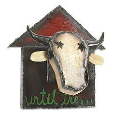 "Bessie the Cow by Ben Gatski and Kate Gatski (Metal Wall Sculpture) (18"" x 17"")"