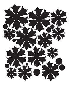Free ornate flower template PDF