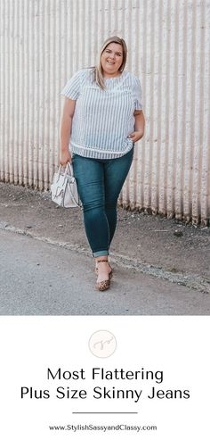 4446a3c830f Most flattering plus size skinny jeans Summer Outfits Women