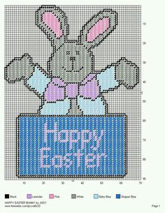 HAPPY EASTER BUNNY by JODY -- WALL HANGING 2/2