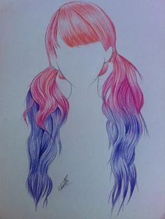 Hair drawing Colorhair Color hair