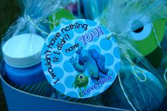 Favors from a Monsters Inc party #monstersinc #partyfavors
