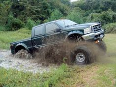 aint nothing better then going muddin with a ford pickup!