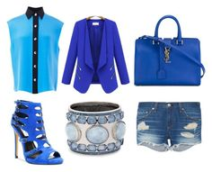 """Blue Day"" by koala105 ❤ liked on Polyvore featuring Chelsea & Zoe, FAUSTO PUGLISI, rag & bone, Yves Saint Laurent, WithChic and Chico's"