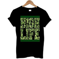 Men's Medium Black T Shirt High Life Weed From Bang Tidy Clothing. Fantastic Original Designs Available In Many Colours & Sizes....