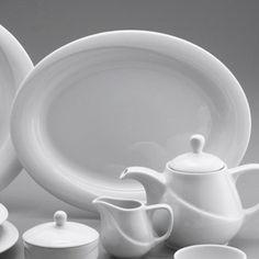 Platou oval, din colectia X-Tambul, este realizat din portelan alb, lucios. Are diametrul de 240 mm.