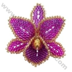 3D Orchid Brooch Bead Pattern By ThreadABead