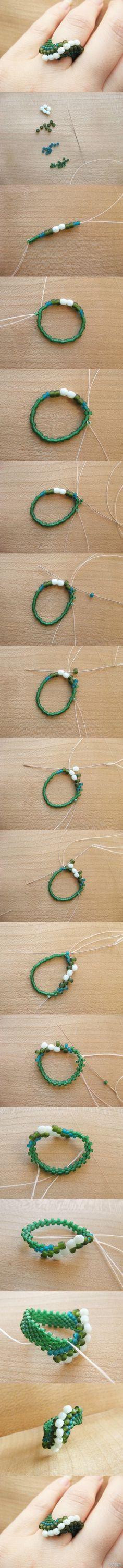 三款串珠戒指  beaded ring