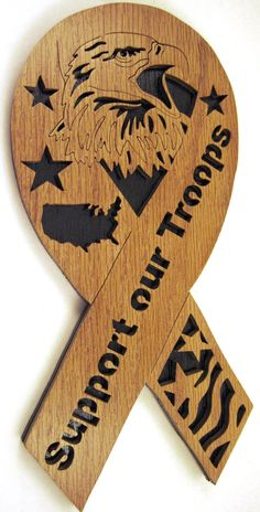 Support our Troops Ribbon scroll saw cut5p by ScrollSawTreasures, $19.25