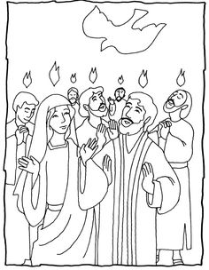 Pentecost - several coloring pages - great ideas