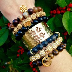 """December 2015 Rustic Cuff - cuff of the month """"Holly"""""""
