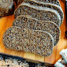 """Flax Sandwich Bread {vegan, keto, grain-free}"""" is locked Flax Sandwich Bread {vegan, keto, grain-free} - Delicious flax bread made with flaxseed meal & baking powder (plus water and optional - Bara Brith, Low Carb Wraps, Vegan Keto, Vegan Gluten Free, Flax Seed Pancakes, Flaxseed Bread, Grain Free, Nut Free, Prep & Cook"""