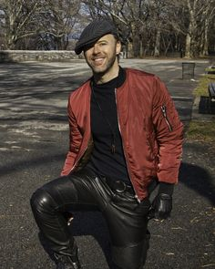 """Derek Bishop Music - The official site for Derek Bishop and """"Bicycling in Quicksand"""" Tight Leather Pants, Men's Leather Jacket, Leather Men, Leather Fashion, Mens Fashion, Hommes Sexy, Riverside Park, Clothing Items, New Look"""