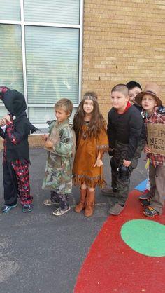 Provost Elementrary school Halloween parade 2014