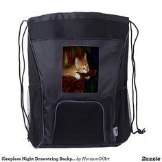 Sleepless Night Drawstring Backpack