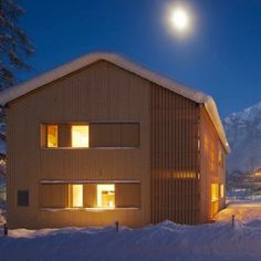 berg haus wood facade