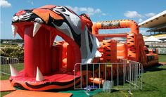 Our jumping castles and obstacle courses are based on the world's most loved animals and team mascots and are EXCLUSIVE to Footy Jumping Castles. If you are looking for Tigers, Rabbits, Eels, Roosters, Panthers, Sea Eagles, Sharks, a Soccerdome, water slides, interactive games or even a customised kids jumping castle hire Sydney