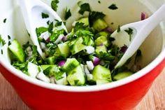 Cucumber, Onion, & Parsley Salad w/ Feta Cheese