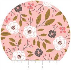 Camelot Fabrics, Magnolia, Flowers Light Pink