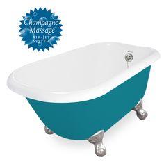 "American Bath Factory Champagne Trinity 60"" Splash of Color AcraStone Tub & Drain , 7"" Faucet Holes"