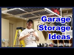 A simple garage rack to get the clutter off the ground.  Easy and fast to install ceiling rack.  https://youtu.be/hhdrK8p9zBM
