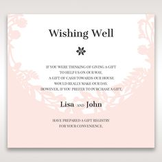 Wedding invitation wording for a monetary gift pinteres laser cut p wishing gift registry wedding stationery filmwisefo Image collections