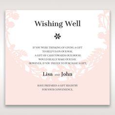 Wedding invitation wording for a monetary gift pinteres laser cut p wishing gift registry wedding stationery filmwisefo Gallery