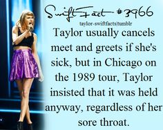 It was because there was a girl with cancer that loved taylor swift, and taylor called the girl. The girl was supposed to get a special pass to see taylor backstage but she died because of the cancer