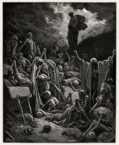 The Vision of The Valley of The Dry Bones - Paul Gustave Dore