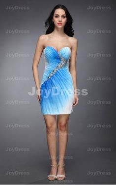 buy dresses mini,Double Colour Sheath Sweetheart Short Dress