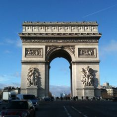 I traveled to Europe once, and stood in this very spot (across from the Arc de Triomphe).  It was beautiful, and Paris is so well planned.  We didn't see everything we wanted to - the Louvre employees were on strike!