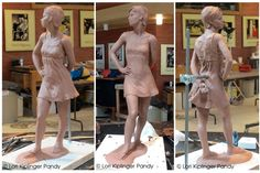Lori Kiplinger Pandy. Contemporary classical figurative sculpture. Excellent writing and photos on works in progress.