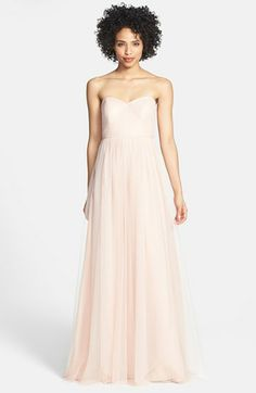 Jenny Yoo 'Annabelle' Convertible Tulle Column Dress available at #Nordstrom $260... DYING!!  Love the cameo pink, mink grey, and shadow grey!!  Gotta find a more affordable option for the ladies.