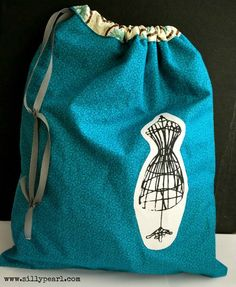 The Silly Pearl - Easy Lined Drawstring Bag