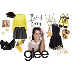 Rachel Berry - gLee, created by tiffany-palmer-godfrey on Polyvore
