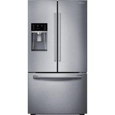 Samsung 22.5 cu. ft. French Door Refrigerator in Stainless Steel, Counter Depth-RF23HCEDBSR at The Home Depot