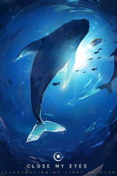 Fantasy Concept Art, Fantasy Art, Wallpaper Fofos, Whale Illustration, Beautiful Dark Art, Underwater Art, Whale Art, Sea Art, Environment Concept Art